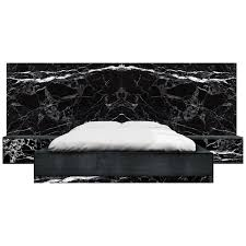 Contemporary Dettifoss Marble Edition Bed Frame, Black, Brass ...