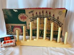8 Light Christmas Candolier Vintage Noma 8 Light Candelabra Christmas Plastic Candle