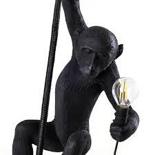 Seletti Hanglamp The Monkey Zwart Kunsstof 27x30x80cm Wonenmetlefkids