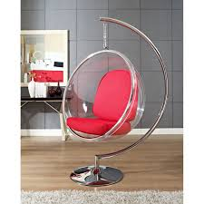 Modern Hanging Chair Baby Nursery Modern Hanging Bubble Chaise Chair Chrome Polished