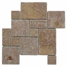 noce opus mini french pattern travertine tile mosaic