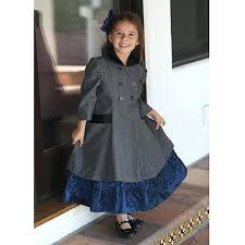 toddler wool coat angels garment toddler girls gray double ted wool coat childrens wool pea coats
