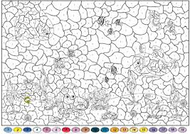 Small Picture Underwater World Color by Number Free Printable Coloring Pages