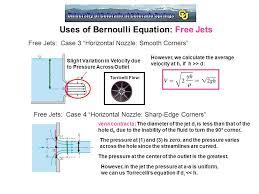 uses of bernoulli equation free jets