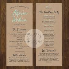 sample wedding ceremony program the 25 best wedding program examples ideas on pinterest wedding