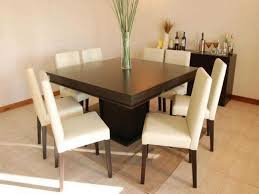 modern minimalist square wood trends with attractive 8 seater dining room table ideas eight and chairs design white leather seats high back stainless steel