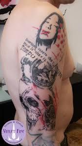 Tatuaggio Trash Polka Violet Fire Tattoo Tatuaggi Maranello