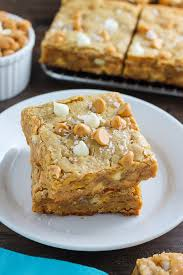 chewy peanut butter bars. Perfect Bars Thick And Chewy White Chocolate Peanut Butter Blondies In Bars N