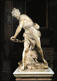"gian lorenzo bernini italian artist com ""david "" marble sculpture by gian lorenzo bernini 1623 24 in """
