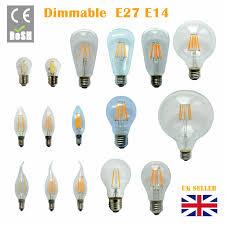 Led Virtual Filament Light Bulb Dimmable B22 E27 E14 2 4 6 8w 12w Led Edison Retro Filament Light Lamp Bulb