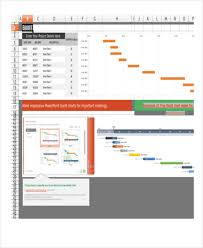 Gantt Chart Excel Monthly Gantt Chart Excel Templates Free Premium Templates