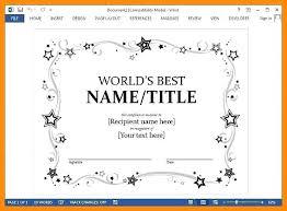 Awards Certificates Templates For Word Scholarship Awards