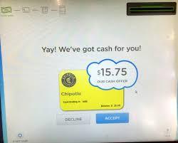 coinstar gift card exchange