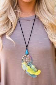 Small Dream Catcher Necklace Amazing Dream A Little Dream With These Miniature Dreamcatcher Necklaces