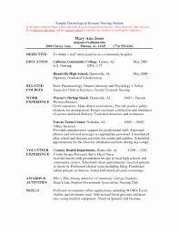Example Resume Skills Beautiful Nursing Student Resume Template