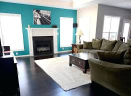 accent wall colors living room focal point turquoise blue white fireplace accent wall accent wall color