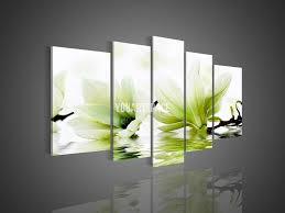 green wall art canvas panel wall art no framed modern abstract acrylic flower magnolia green