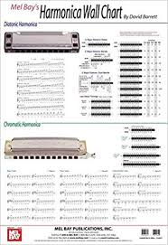 Harmonica Second Position Chart Amazon Com Harmonica Wall Chart 9780786667567 David
