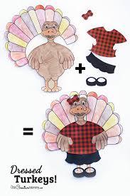 Dressed Turkey Thanksgiving Kids Craft - onecreativemommy.com