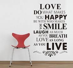 Spielraum Liebe Tun Was Sie Glücklich Macht Englisch Sprüche Wand