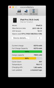 Battery Design Capacity Vs Full Charge Capacity Ipad Pro Battery Reached 80 Capacity After 307 Cycles