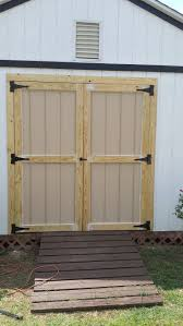 Brand new shed doors installed for client. Old door was rotting and did not  swing