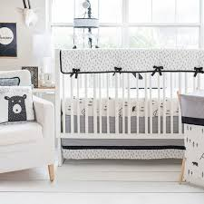 black and white bear crib rail cover set little black bear collection