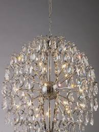 chandelier with glass diffuser and metal fittings affra affra exclusive modern chandeliers