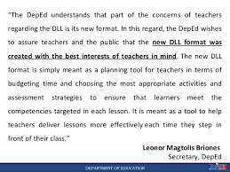 daily lesson log format 2017 daily lesson log dll for junior high school grade 710