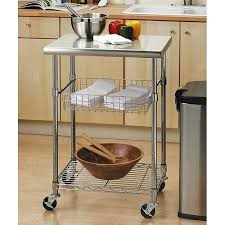 bamboo kitchen cart stainless steel top