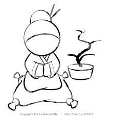 Geisha Coloring Pages Geisha Smelling Blossom Flower Coloring Page