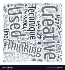 Creative Thinking Techniques Design Creative Thinking Techniques Word Cloud Concept