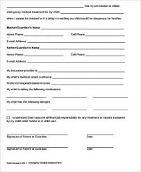 Printable Medical Release Form For Children Beauteous 44 Sample Child Medical Consent Forms Sample Templates