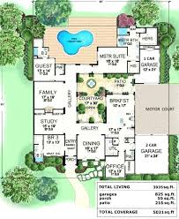tuscan style house plans with courtyard house plan with courtyard lovely lake cabin central style house