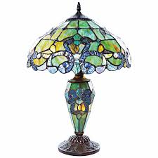 lake of the isles stained glass table lamp