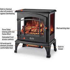 comfort glow sanibel quartz electric stove heater