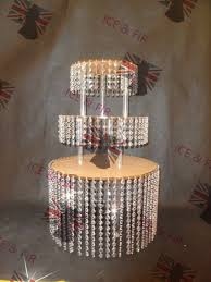 3tier lot crystal chandelier wedding cake stand acrylic crystals