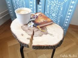 ikea wood slice side table