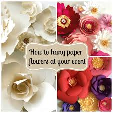 Hanging Paper Flower Backdrop How To Hang Paper Flowers For Backdrops And Photo Walls Update The