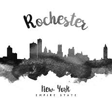 rochester painting rochester new york skyline 18 by aged pixel