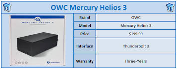 Owc Pcie Thunderbolt Card Compatibility Chart Owc Mercury Helios 3 Thunderbolt 3 Enclosure Review