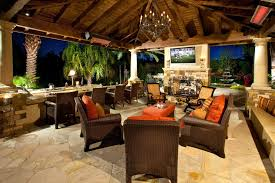 covered patio designs with fireplace. Outdoor Covered Patio Designs Tropical With Palm Tree Wood Ceiling Rattan Furniture Fireplace