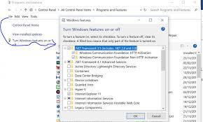 installing net framework 3 5 in windows