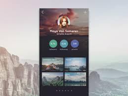 travel profile travel app profile ui movement