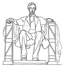 abraham lincoln coloring pages monument 2 free abraham lincoln coloring sheets