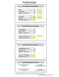 Break Even Template 41 Free Break Even Analysis Templates Excel Spreadsheets
