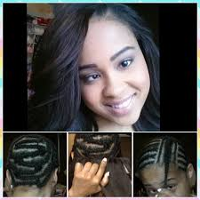 Sew In Hairstyles Long Hair Sew In Weave Hair Extensions Braid Pattern Install Protective