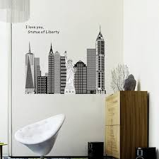 wallpaper for office wall. Modern Fashion City Architecture Freedom Goddess Wall Stickers Home  Decoration Office Sticker Poster Decals Wallpaper For