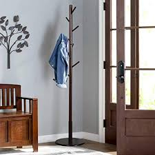 Sturdy Coat Rack Inspiration Amazon Vlush Sturdy Wooden Coat Rack Stand Entryway Hall Tree