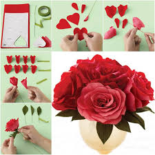 Rose Flower With Paper Make Paper Rose Flower Zlatan Fontanacountryinn Com